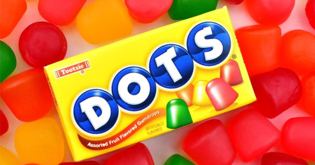 dots candy box with dots in background