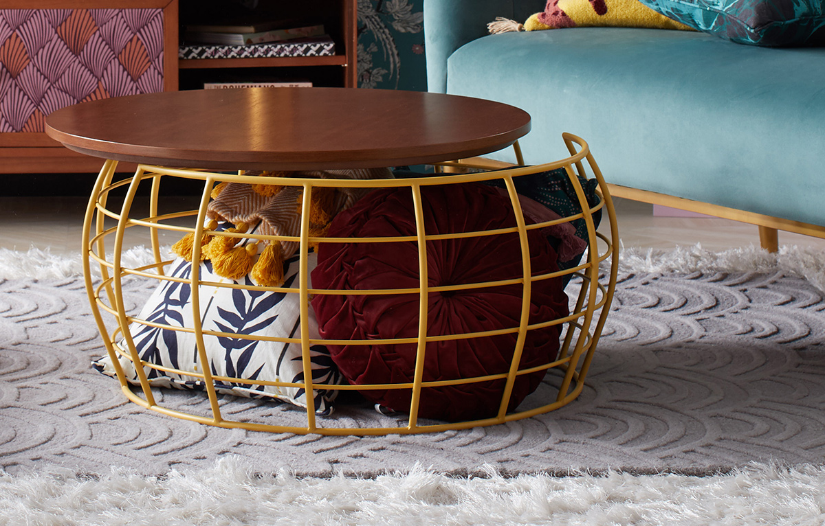wire bottom coffee table from walmart