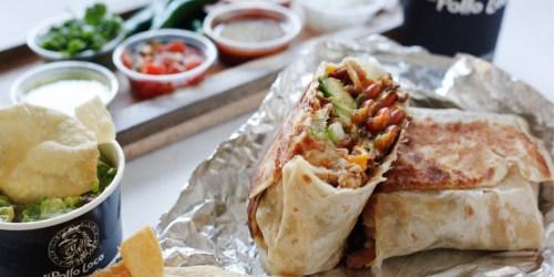 Buy One El Pollo Loco Burrito, Get One Free | Today Only