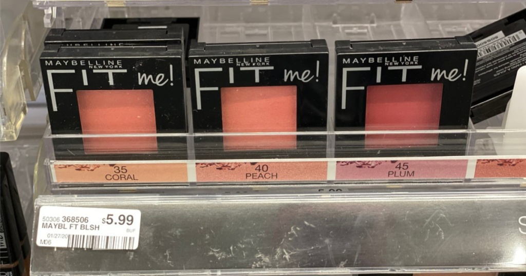 shelf with fit me maybelline blush