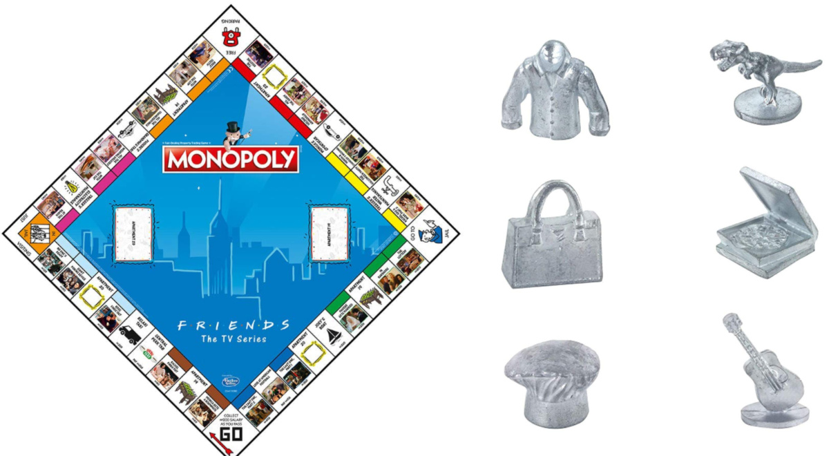 Friends Monopoly Game Board and game pieces