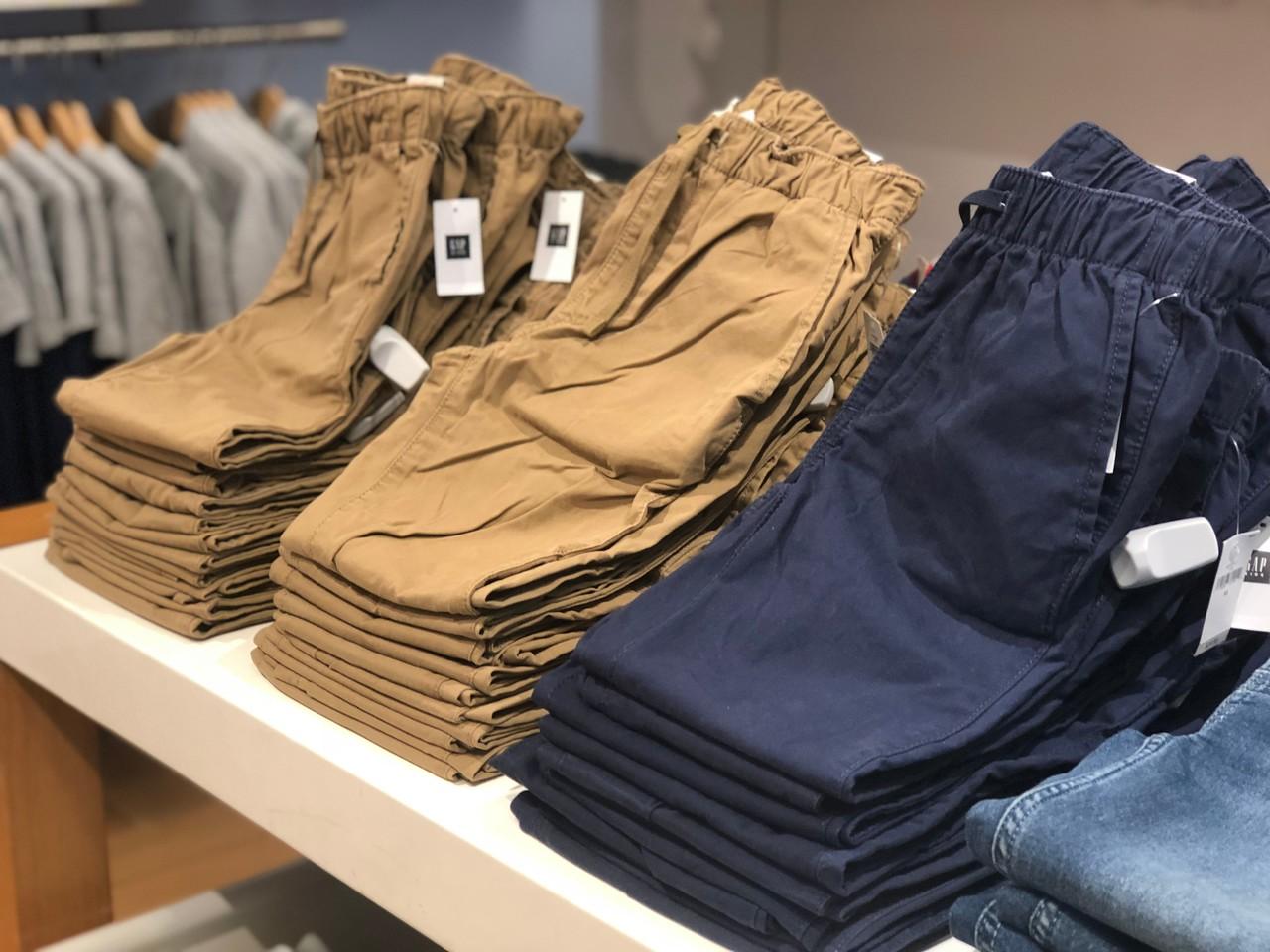 khaki and navy blue boys pants