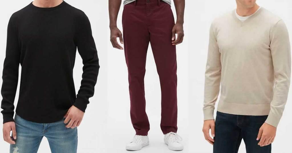 men wearing GAP apparel