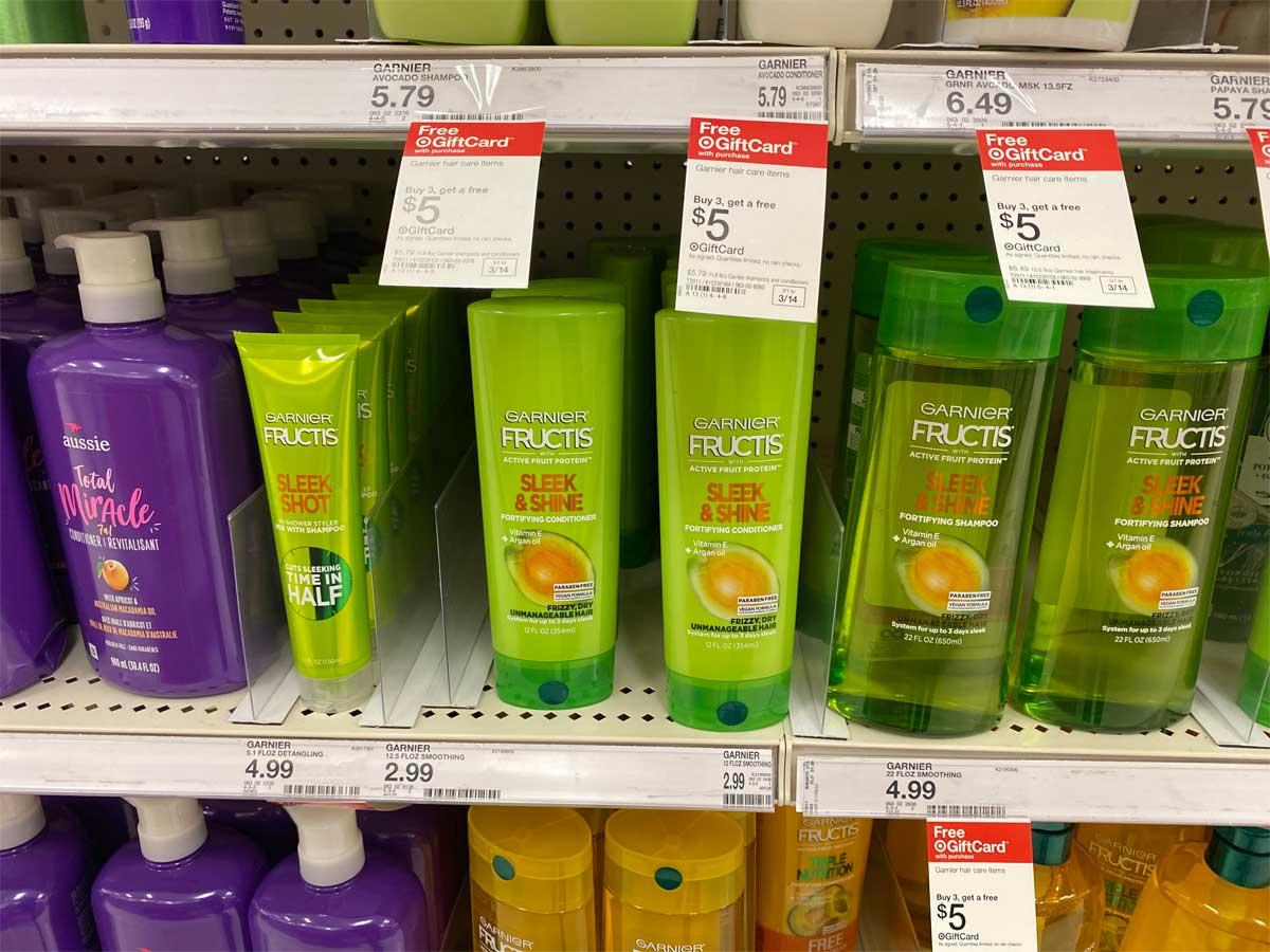 garnier fructis on a shelf