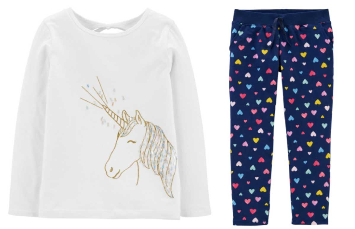girls graphic t and leggings