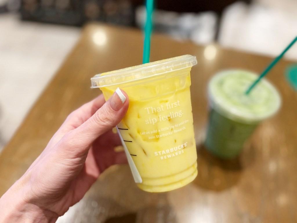 Iced Golden Ginger drink at Starbucks