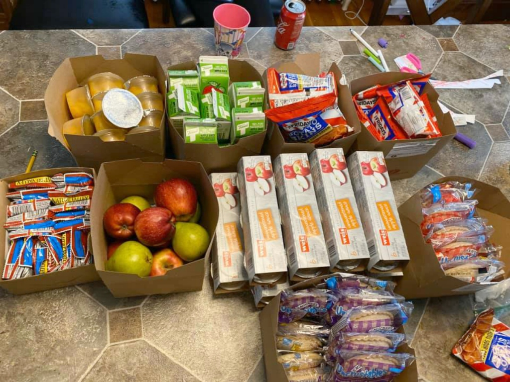 groceries donated during COVID-19