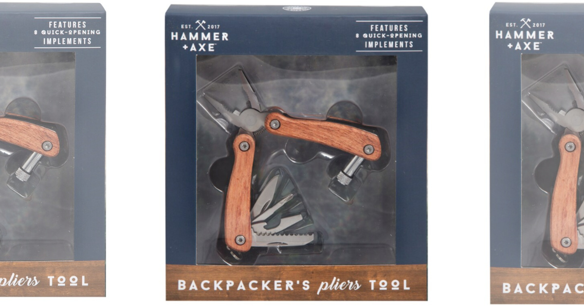 hammer + axe backpacker's pliers tool in box