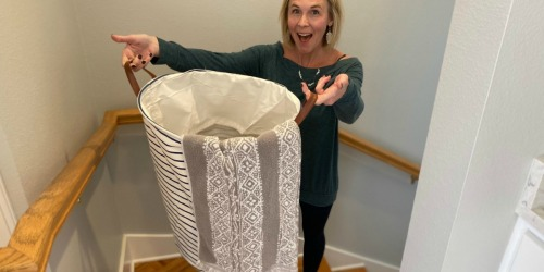 I Love This Collapsible Laundry Basket From Amazon!