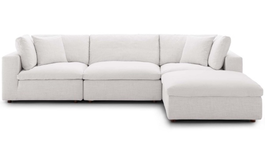 white cloud couch stock photo