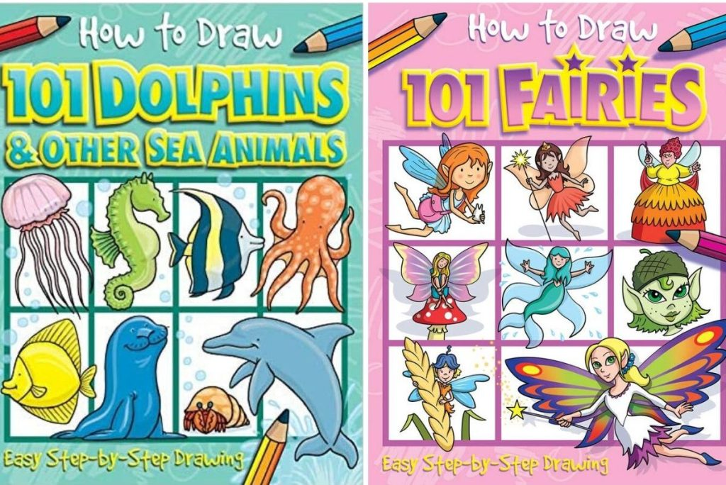 two how to draw instructional books for kids
