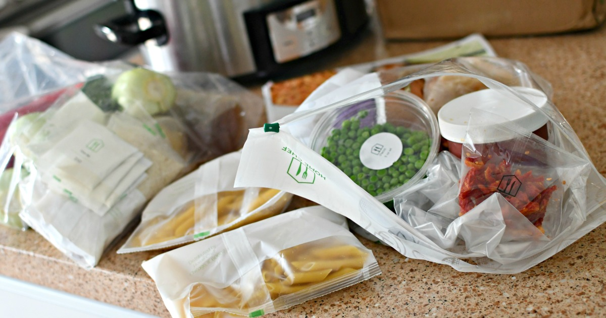 ingredients on counter for home chef meals