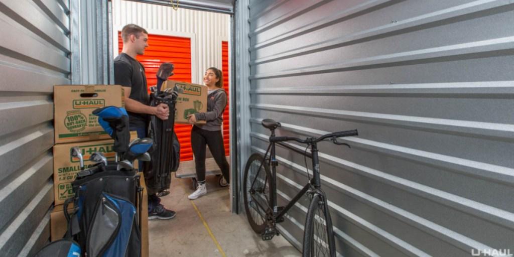 inside U-haul storage unit