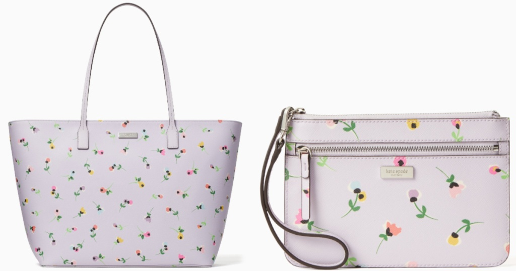flower kate spade tote and matching wallet