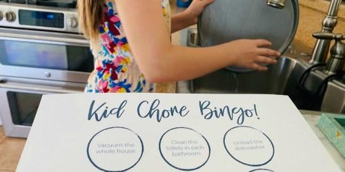 We've Created a Free Kids Chore Bingo Printable to Make Quarantine a Little More Fun