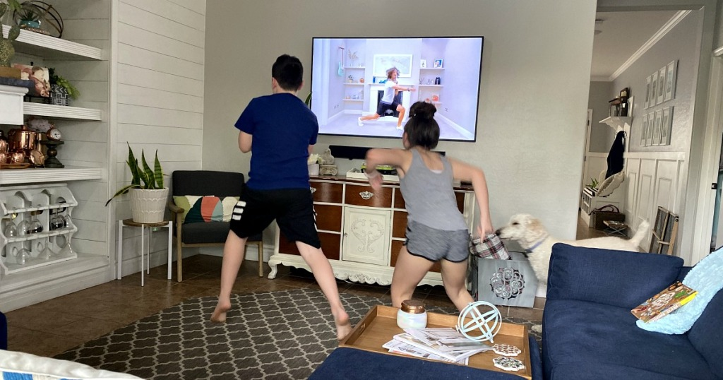 kids exercising at home