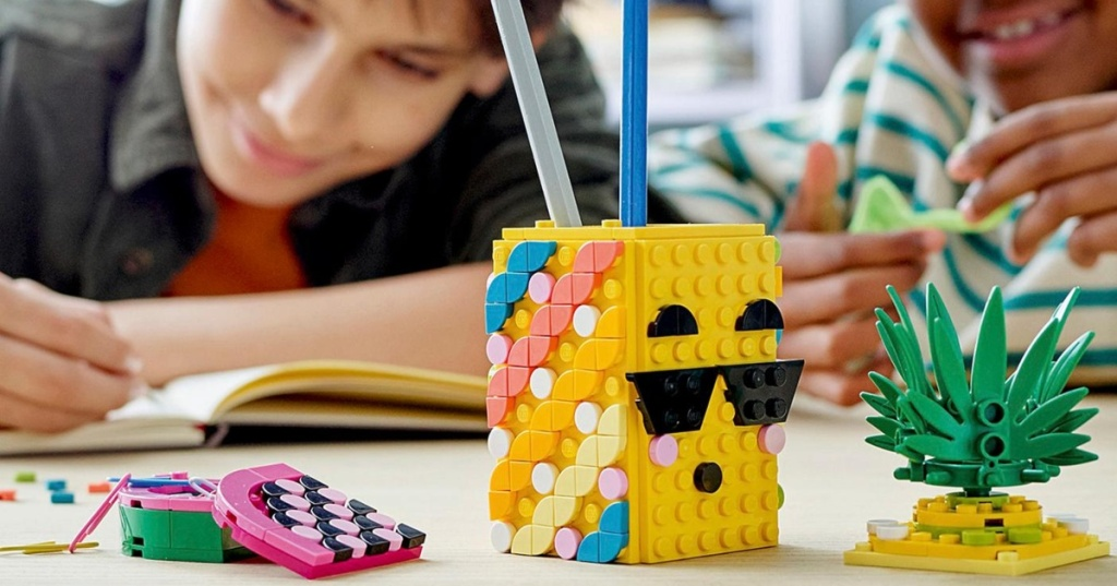 Lego Dots pencil holder project