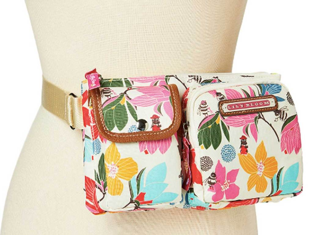 Lily Bloom Pink & Yellow Bloomin' Bees Janet Belt Bag