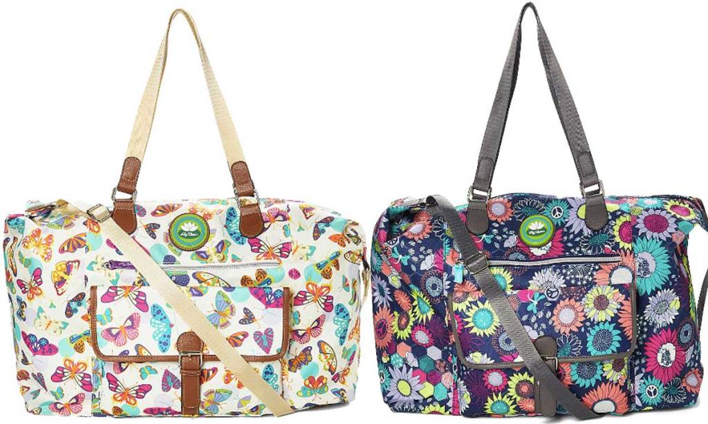 Lily Bloom White & Purple Butterfly Twister Fiona Weekender