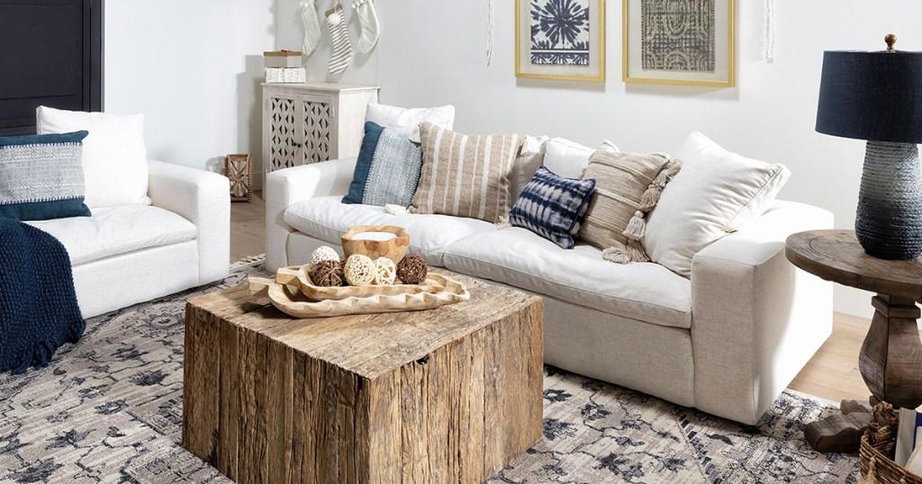 living spaces eutopia sofa
