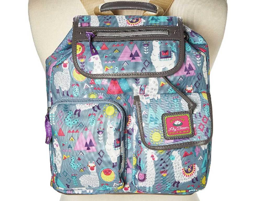 Lily Bloom Blue Llama Mama Riley Backpack
