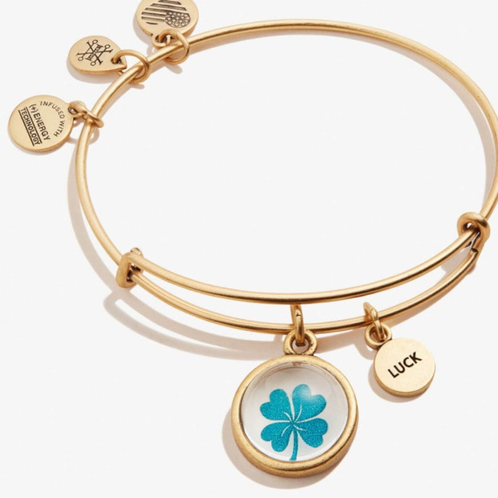 alex and ani luck mantra bangle gold