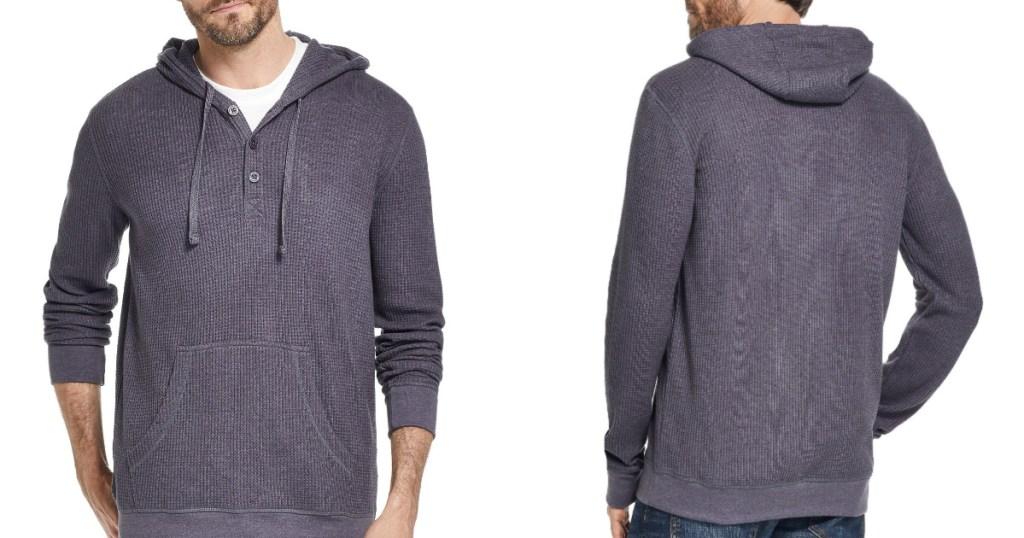 macys mens waffle knit hoodie