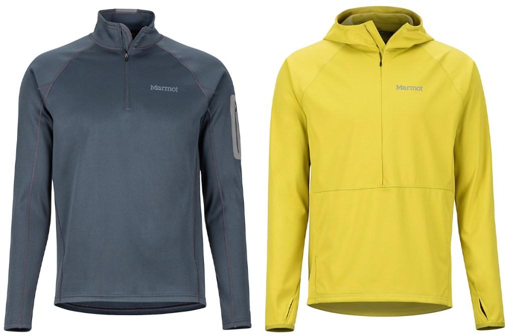 grey and yellow marmot jackets