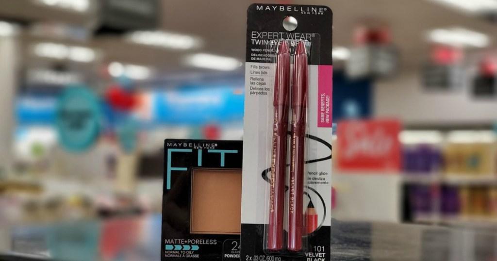 eye makeup sitting on a store shelf