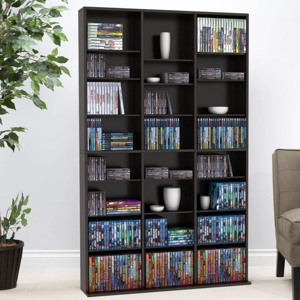 media atlantic multimedia adjustable storage rack