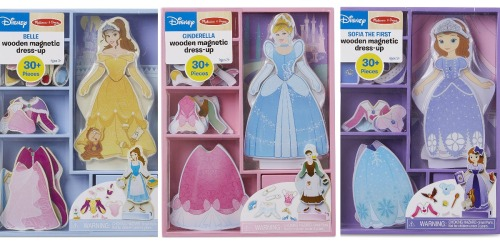 Melissa & Doug Disney Magnetic Dress-Up Wooden Doll Sets Only $7 on Amazon