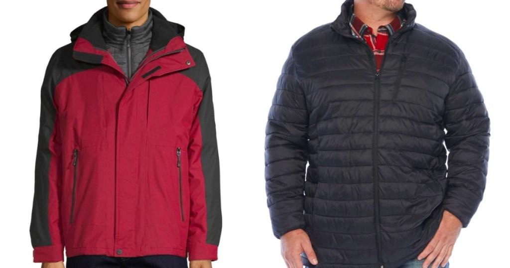 two men wearing jackets