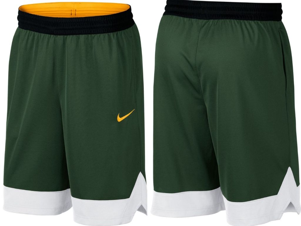 front and back image of men's basketball shorts