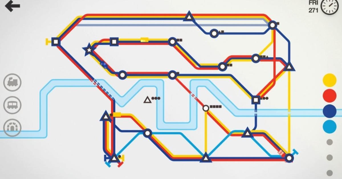mini metro app gameplay screenshot