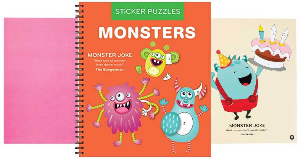 sticker puzzle book monsters