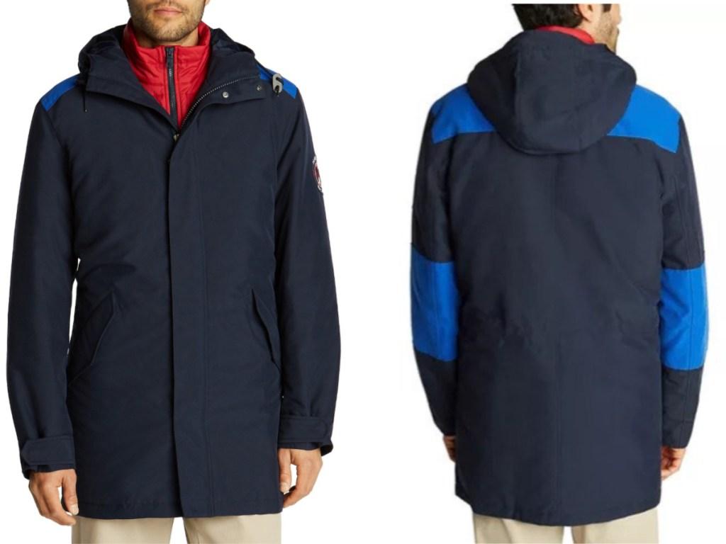 nautica mens 3-in-1 hooded jacket