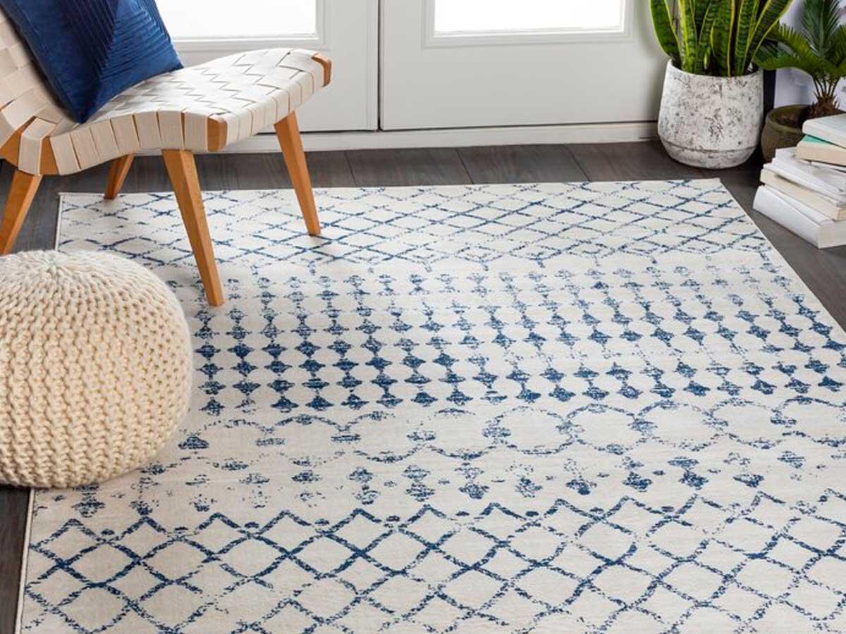 navy wayfair rug