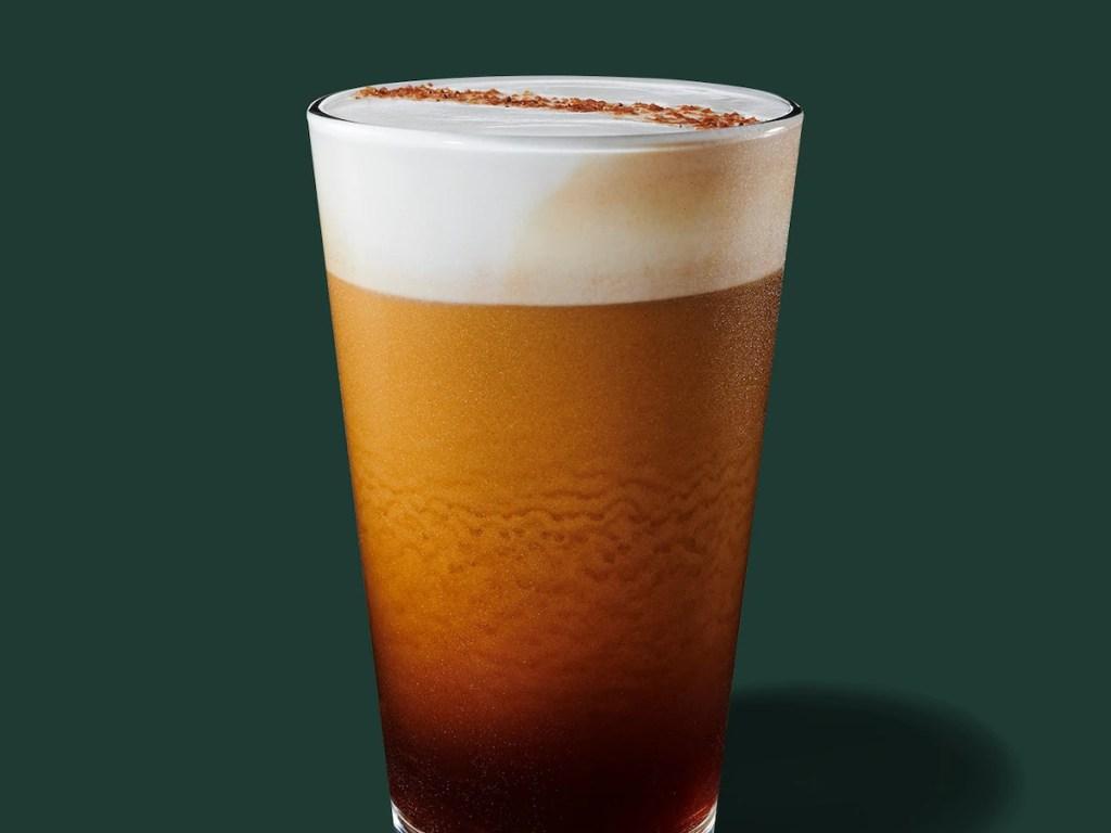 Starbucks Nitro Cold Brew drink in glass