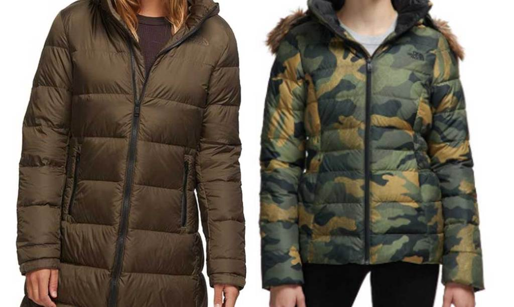 the north face parka and short coat