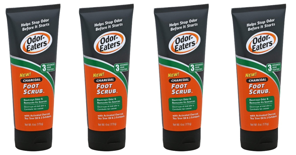 odor eaters charcoal foot scrub