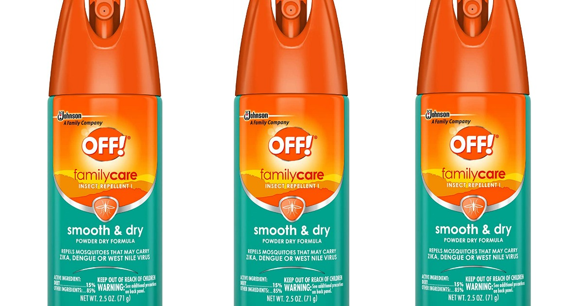 stock images of off insect repellent spray cans