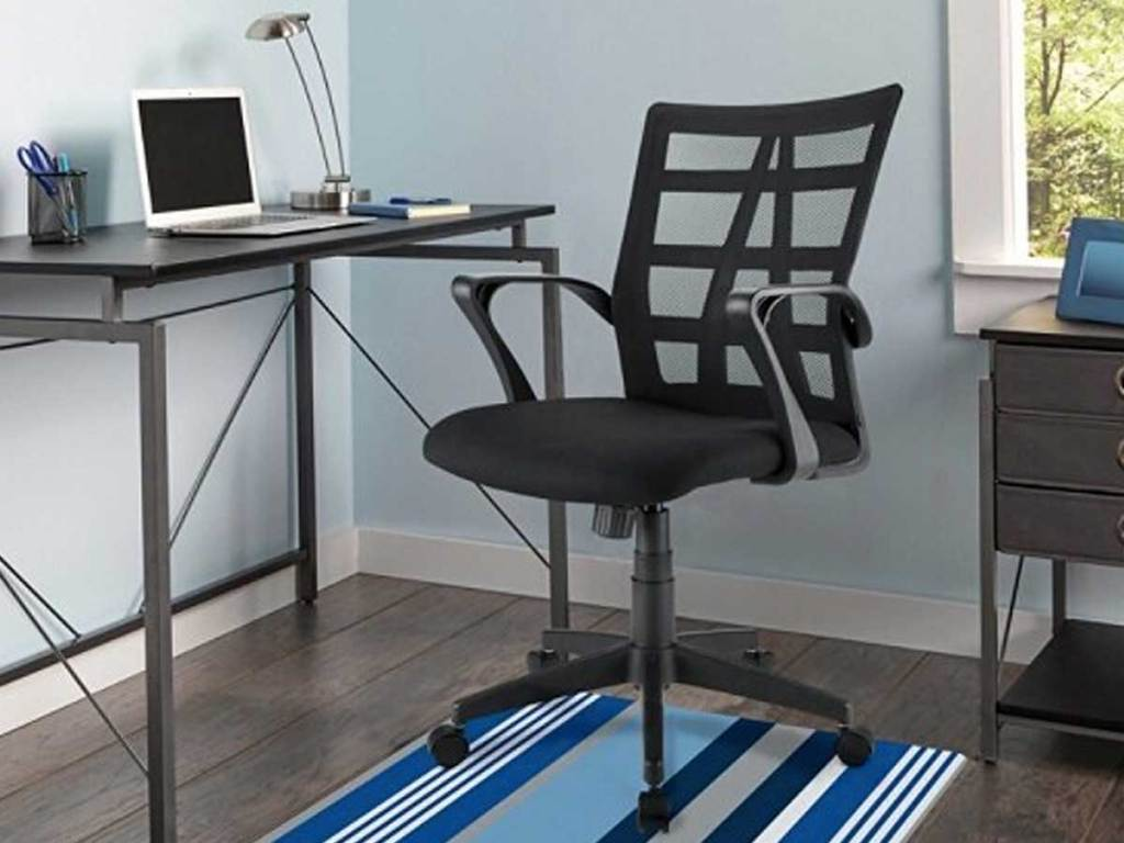 office chair in a home office