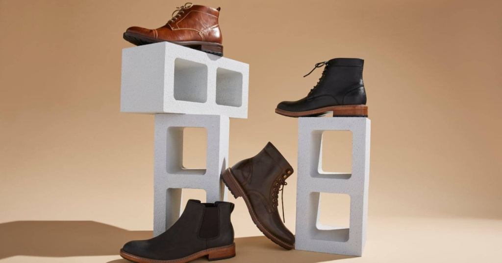 brown and black boots