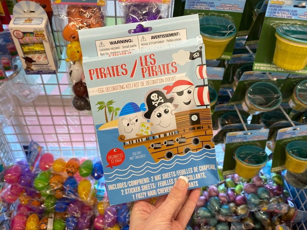 Pirate-themed Easter egg decorating kit