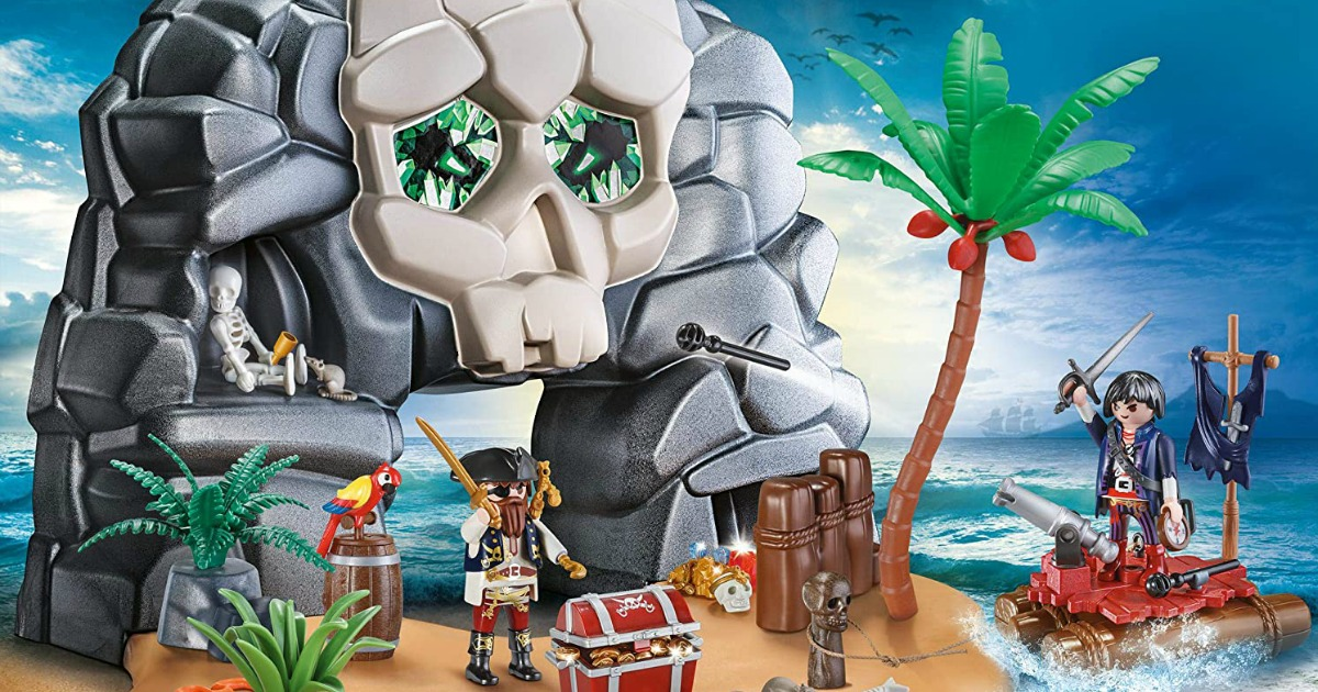 playmobil skull island set stock image