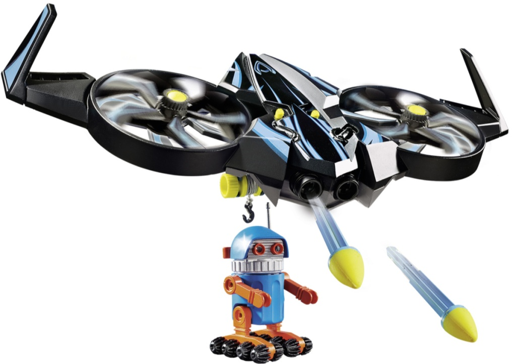 playmobil drone and figure
