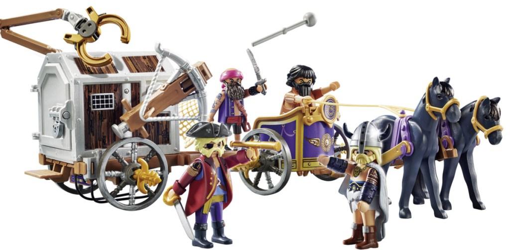 wagon with playmobil figures