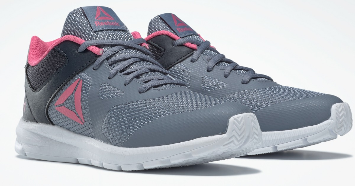 gray and pink girls sneakers