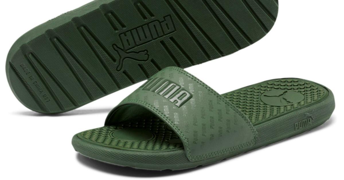 stock image of slide sandals