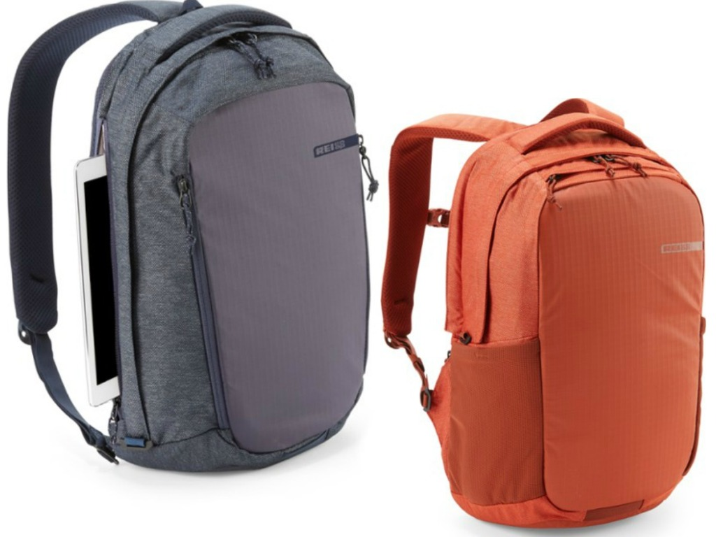 two backpacks on white background